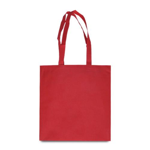 Эко-сумка красная из спанбонда (38х40 см.), 80 г/м2