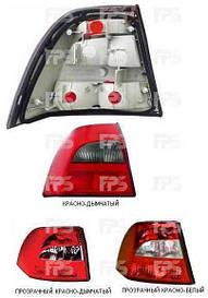 Фонарь задний для Opel Vectra B седан/хетчбек '99-02 левый (DEPO) красно-дымчатый, прозрачный