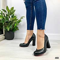Туфли на каблуке натуральная кожа