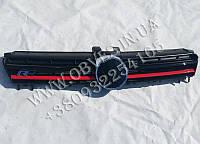 Решетка радиатора VW Golf 7 стиль R Line (красная полоска)
