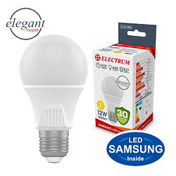 Лампа світлодіодна стандартна A60 LS-33 Elegant 12W E27 3000K алюмопл. корп. A-LS-1920