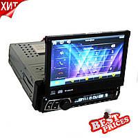 Автомагнитола 1DIN DVD-712 с выездным экраном