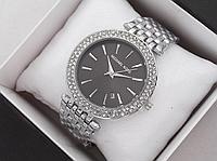 Женские наручные часы Michael Kors копия класса люкс, жіночі годинники Michael Kors (серебро/черный)