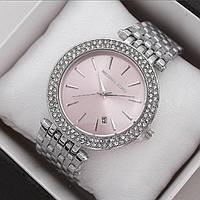 Женские наручные часы Michael Kors копия класса люкс, жіночі годинники Michael Kors (серебро/розовый)