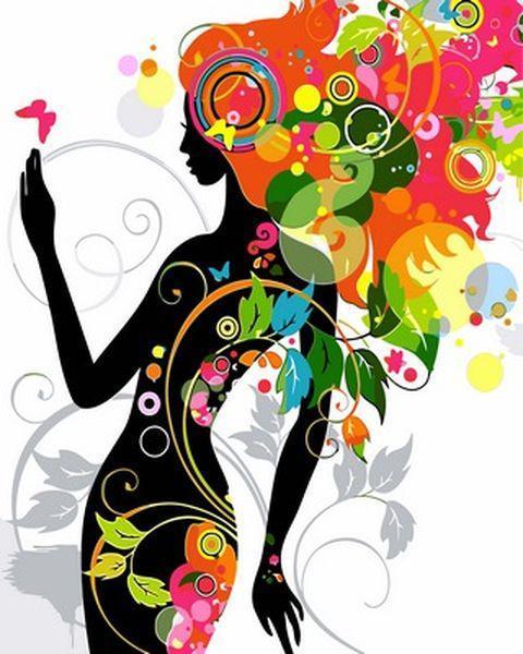 Раскраски по номерам 40×50 см. Цветочная фея