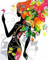 Раскраски по номерам 40×50 см. Цветочная фея, фото 1