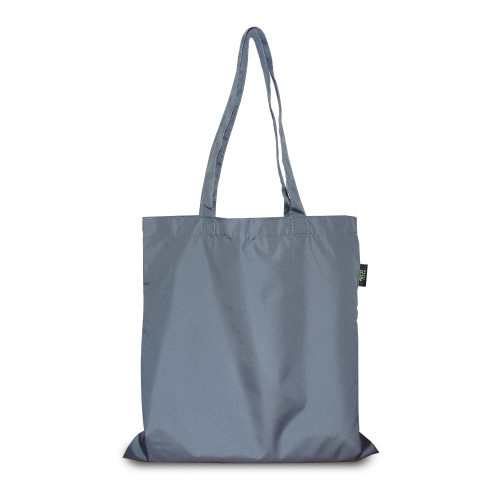 Эко-сумка серая из плащовки (38х40 см.), 85 г/м2