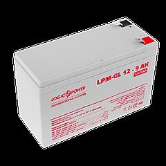 Акумулятор гелевий LogicPower 12В 9 Ач (LPM-GL 12 - 9 AH)