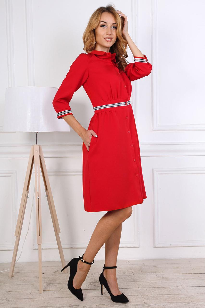Яркое рубашечное женское платье
