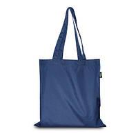 Эко-сумка синяя из плащовки (38х40 см.), 85 г/м2