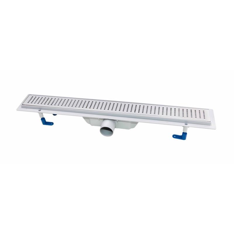Трап линейный Qtap Dry FB304-700 с нержавеющей решеткой 700х73