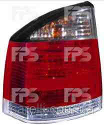 Фонарь задний для Opel Vectra C '02-08 левый (DEPO) бело-красный