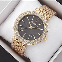 Женские наручные часы Michael Kors копия класса люкс, жіночі годинники Michael Kors (золото/черный)