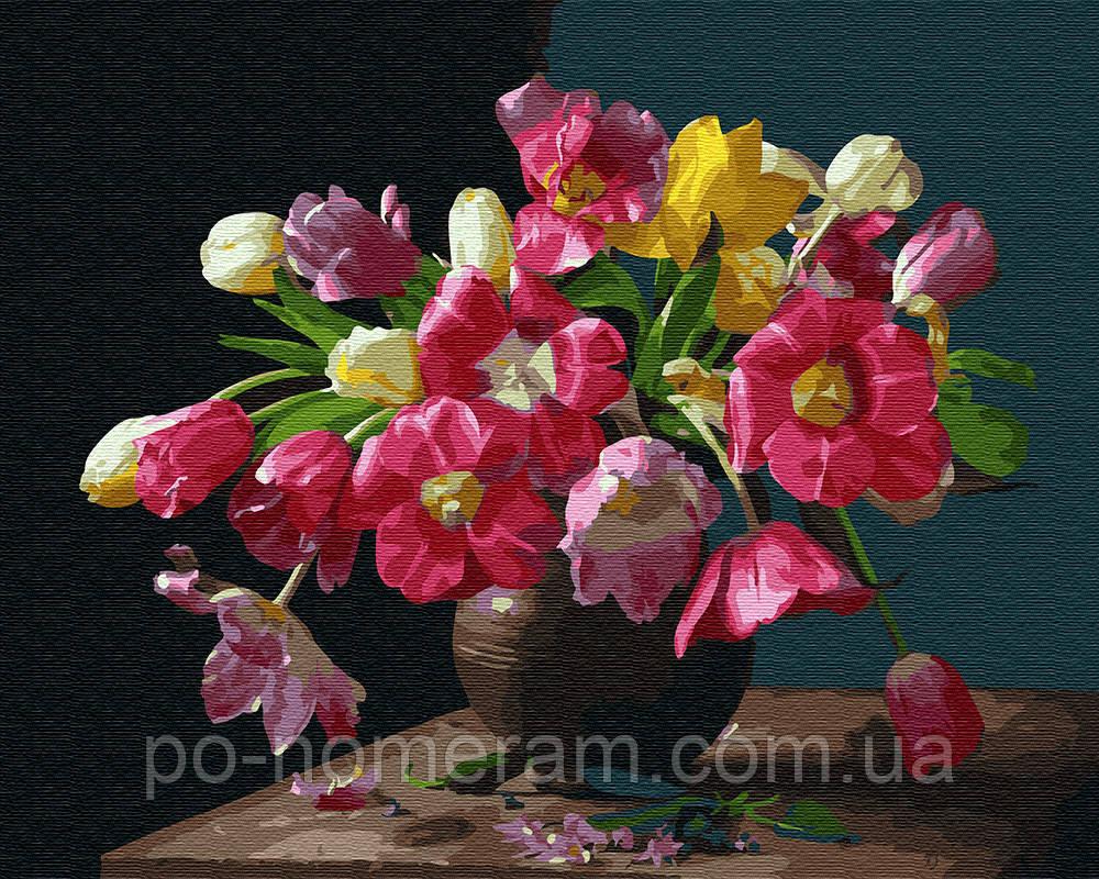 Раскраска для взрослых Красочные цветы (BK-GX25929) 40 х ...