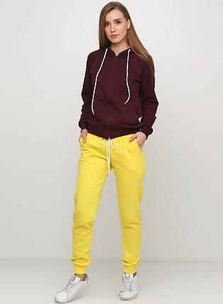 Штани жіночі спортивні, жовті, фото 2