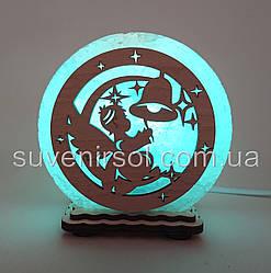 """Соляна лампа маленька кругла """"Ангел з дзвіночком"""""""