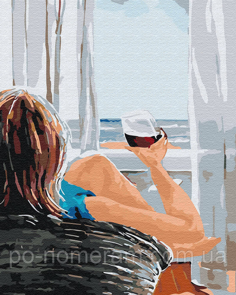 Раскраска для взрослых Утро на берегу (BK-GX30469) 40 х 50 ...