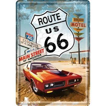 Открытка Nostalgic-Art Route 66 Red Car (10116)