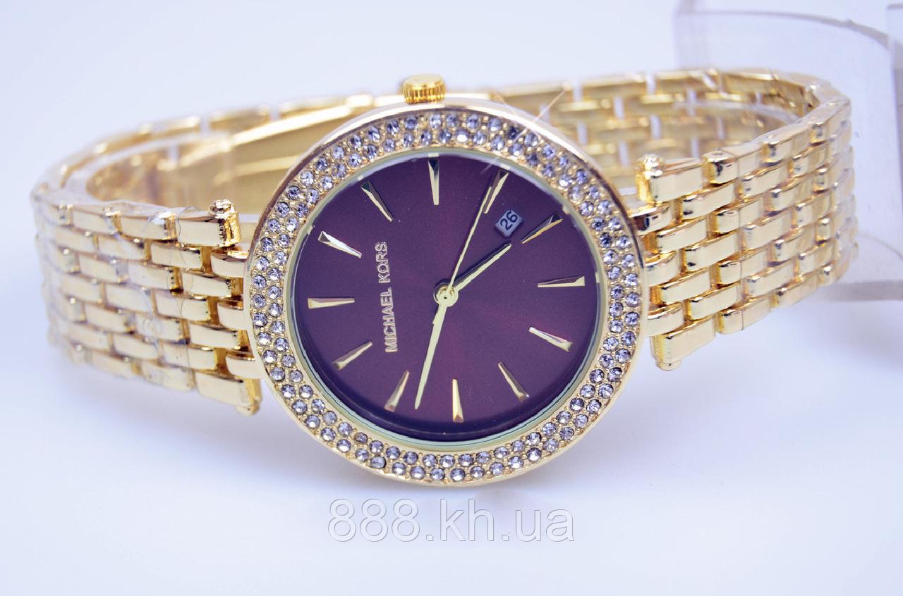 Женские наручные часы Michael Kors копия класса люкс, жіночі годинники Michael Kors (золото/красный)