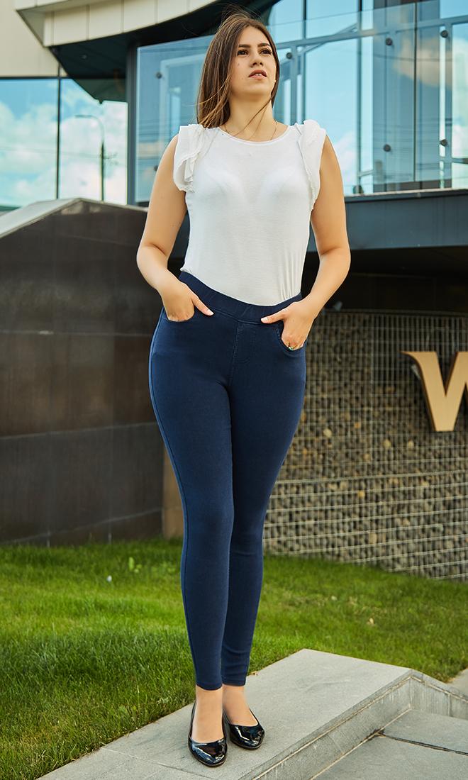 Классические джинсы в синем цвете 50,52,54,56 р-ры