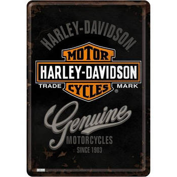 Открытка Nostalgic-Art Harley-Davidson Genuine (10124)