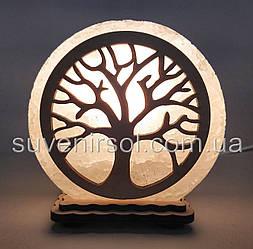 """Соляна лампа маленька кругла """"Дерево"""""""