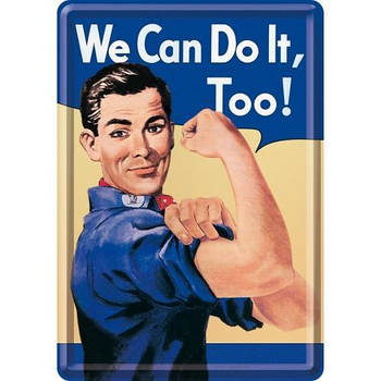 Открытка Nostalgic-Art We Can Do It Too (10125)