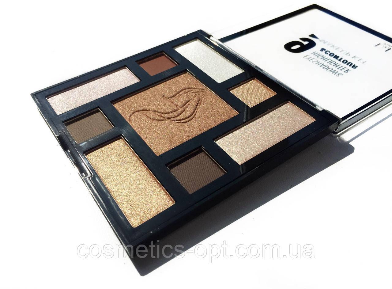 Тени, хайлайтер, бронзатор Do Do Girl Makeup Kit 01