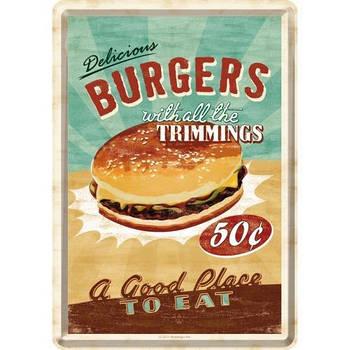 Открытка Nostalgic-Art Burgers (10140)