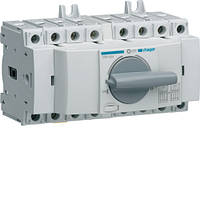Переключатель модульный трёхпозиционный HAGER I-0-II до 16мм2, 400/690В, 4п, 40А, 7м, HIM404