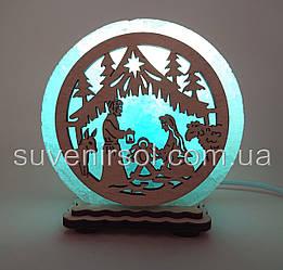 "Соляна лампа маленька кругла ""Різдво"""