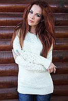 Женский свитер, молочный