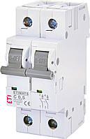 Авт. выключатель ETI ETIMAT 6 2Р 0.5A C 6kA (2143501)