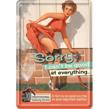 Открытка Nostalgic-Art Sorry, I Cant Be Good (10190)
