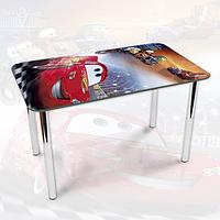 Виниловая наклейка на стол Тачки машина ламинированная двойная пленка, 600*1200 мм, мультфильмы дети, красный