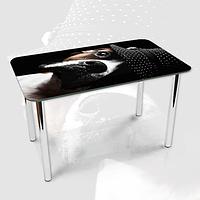 Виниловая наклейка на стол Пес в Шапке собака ламинированная двойная пленка, 600*1000 мм, животные, черный