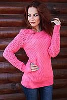 Женский свитер, коралл