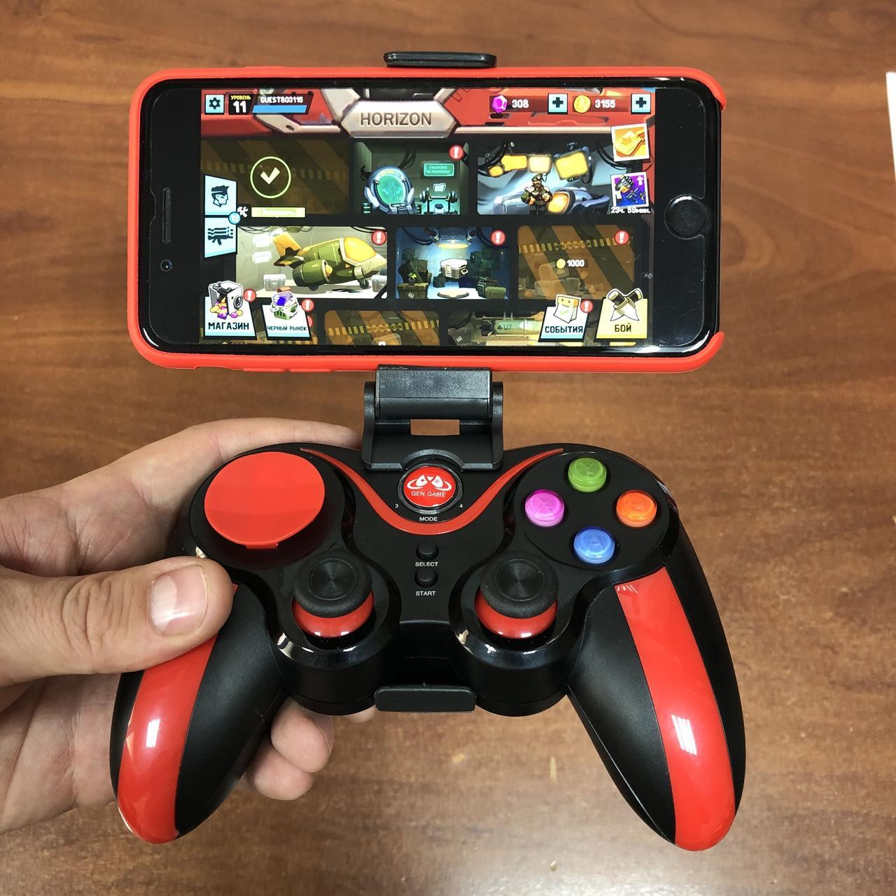 Джойстик S5 Plus беспроводной геймпад bluetooth для IOS,Android, PC gamepad телефона планшета Пк