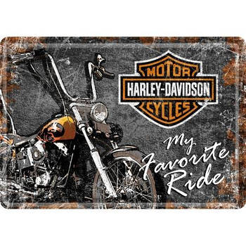 Открытка Nostalgic-Art Harley-Davidson My Favorite Ride (10197)