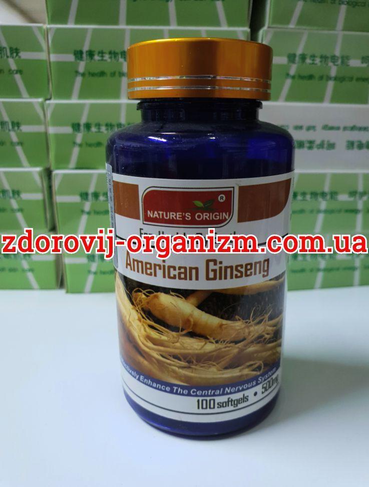 Американский женьшень, Гинкго 500 мг, 100 капсул