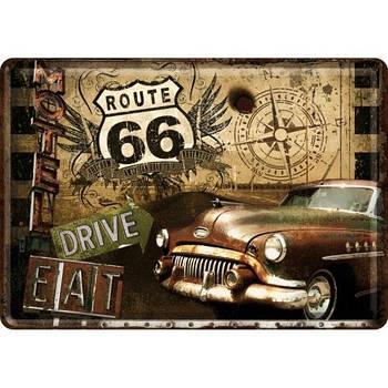 Открытка Nostalgic-Art Route 66 Road (10201)