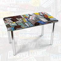 Виниловая наклейка на стол Авто Номера машин ламинированная двойная пленка, 600*1000 мм, абстракция, серый