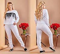 """Стильный спортивный женский костюм кофта+брюки """"Стеганный Трикотаж"""" 60 размер батал"""