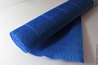 Гофрированная бумага синяя Италия, фото 1