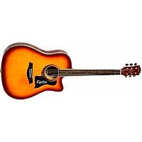 Акустическая гитара Equites EQ900C ВS 41+Пьезодатчик Cherub GT-3 Pream