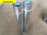 Труба 1м, нержавейка 0,5 мм,диаметр 110 мм. дымоход, димохід