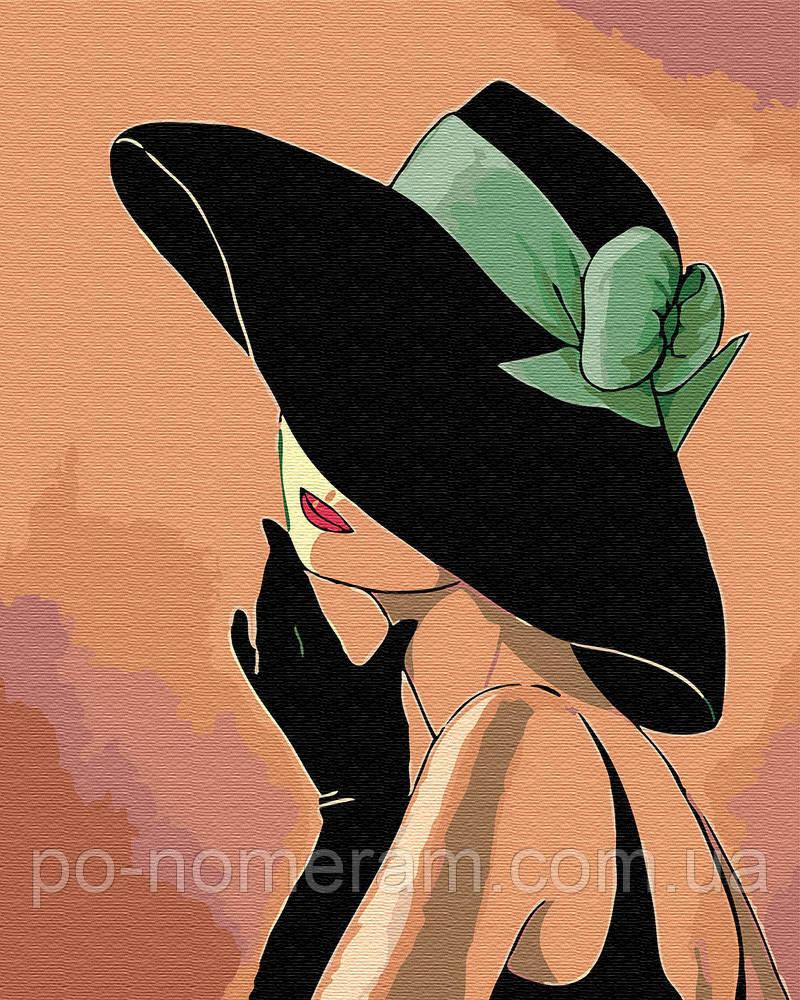 Раскраска по цифрам Дама в шляпе (BRM30461) 40 х 50 см ...