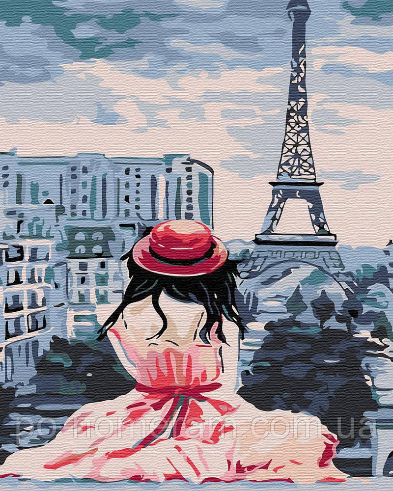 Картина по номерам Девушка в Париже (BRM30471) 40 х 50 см ...