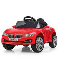 Детский электромобиль M 3175EBLR-3 BMW кожаное сиденье красный