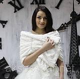 Шарф свадебный  розочка двухсторонний, фото 3